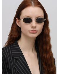 Le Specs Sorcerer Oval Metal Sunglasses - Mettallic