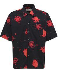 Marni Faded Roses コットンポプリンシャツ - ブラック