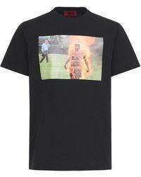 424 Fire コットンtシャツ - ブラック