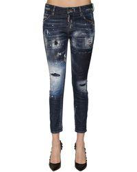 "DSquared² Jeans ""cool Girl"" In Denim Destroyed - Blu"