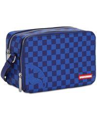 Sprayground Checkered Toiletry Bag - Blue