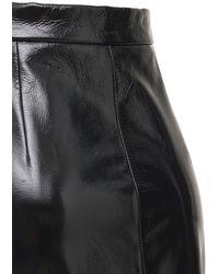 Khaite Mya レザーペンシルスカート - ブラック