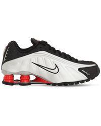 Nike Black & White Shox R4 Trainers