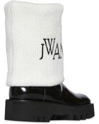 JW Anderson Сапоги Из Кожи 40mm - Черный