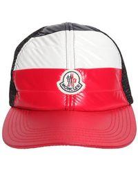 374be25b624 Moncler - Mesh   Nylon Baseball Cap - Lyst