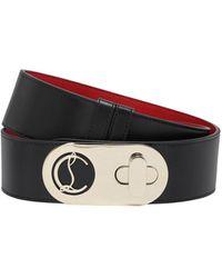 Christian Louboutin 50mm Elisa Leather Belt - Black