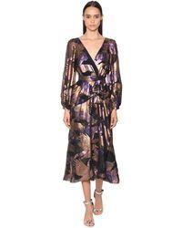 Temperley London Fil Coupé Wrap Midi Dress - Black