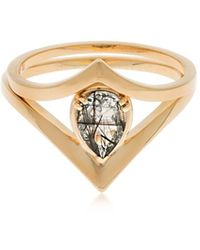 Anna Sheffield Celestine Orbit Suite Ring Set - Metallic