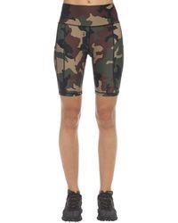R13 Camo Tech Jersey Biker Shorts - Green