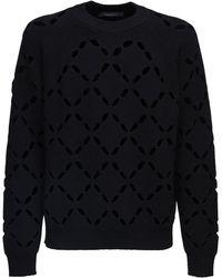 Versace Strickpullover Aus Wolle - Schwarz