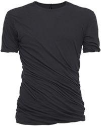 Rick Owens - Langes T-shirt Aus Baumwolljersey - Lyst