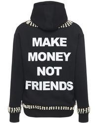 MAKE MONEY NOT FRIENDS - コットンブレンドスウェットフーディー - Lyst