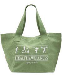 Sporty & Rich Health & Wellness トートバッグ - グリーン