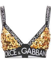 Dolce & Gabbana スパンコールブラトップ - マルチカラー