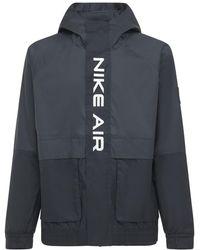 Nike Air Hooded Woven Zip-up Jacket - Black