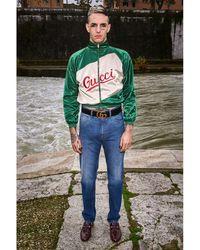 Gucci Джинсы Из Денима С Логотипом 20cm - Синий