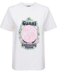 """Ganni T-shirt Aus Bio-baumwolle """"venus"""" - Weiß"""