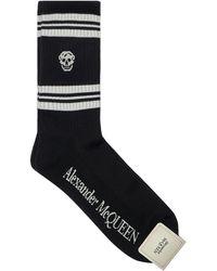 Alexander McQueen Socken Aus Baumwollmischung - Schwarz