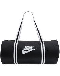 Nike Reisetasche Mit Heritage-motiv - Schwarz