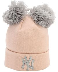 KTZ Double Pompom Ny Yankees Knit Beanie - Pink