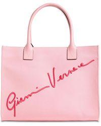 Versace Сумка-тоут С Вышивкой Signature - Розовый