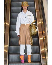 Natasha Zinko Pantalon De Survêtet En Gabardine Et Coton - Neutre