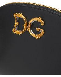 Dolce & Gabbana Dg Girls Barocco レザーメイクポーチ - ブラック