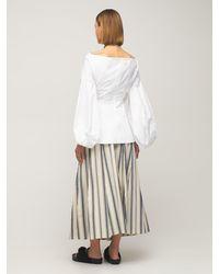 Rosie Assoulin コットンキャンバススカート - マルチカラー
