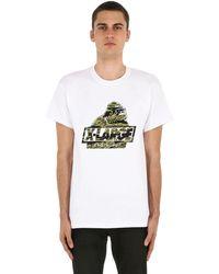 """X-Large Camiseta De Jersey De Algodón Estampado """"camo Og"""" - Blanco"""