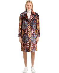 Stella Jean Бархатное Пальто С Принтом - Многоцветный