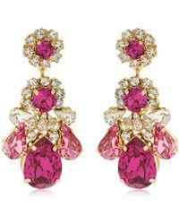 Shourouk - Ds Fuchsia Earrings - Lyst