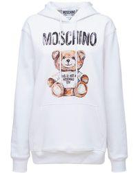 Moschino コットンジャージーフーディー - ホワイト