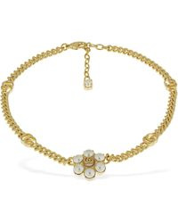 Gucci Gg Marmont Collar Necklace - Metallic