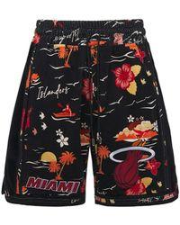 Just Don Miami Heat ベルベットスウェットハーフパンツ - ブラック