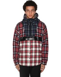 DSquared² Checked Print Hoodie - Red