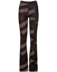 Versace Monogram ビスコースジャカードフレアパンツ - ブラック