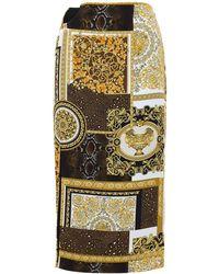Versace - Patchwork ビスコースカディスカート - Lyst