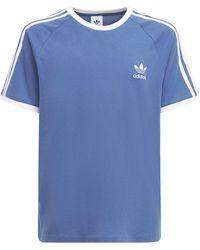 adidas Originals - 3-stripes コットンジャージーtシャツ - Lyst