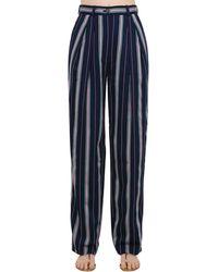 Nina Ricci - Fluid Striped Trousers - Lyst