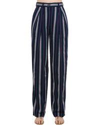 Nina Ricci Pantaloni A Righe - Blu