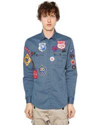 DSquared² Militaryhemd Aus Stretch-baumwolltwill