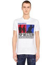 DSquared² T-shirt In Jersey Di Cotone - Bianco