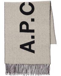 A.P.C. Schal Aus Wolljacquard - Schwarz