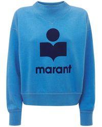 Étoile Isabel Marant Sudadera De Jersey Con Cuello Y Logo - Azul
