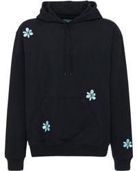 P.a.m. Perks And Mini Logo Embroidery Cotton Sweatshirt Hoodie - Black