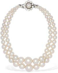 Alessandra Rich - Collier Double En Fausses Perles - Lyst