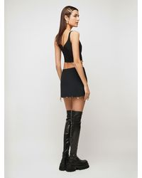 Versace Атласная Юбка - Черный