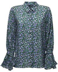 ROKH プリントシャツ - ブルー