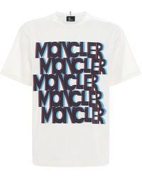 3 MONCLER GRENOBLE コットンジャージーtシャツ - ホワイト