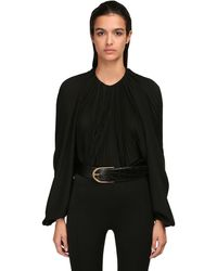 Saint Laurent シルククレープデシンシャツ - ブラック
